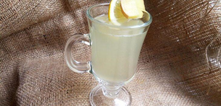 Полезный напиток  из имбиря и лимона