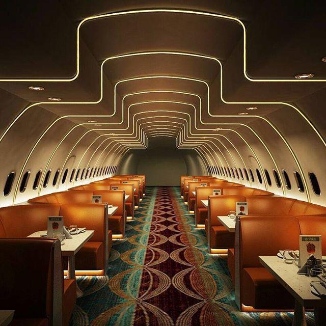 В Индии пассажирский самолет превратили в стильный ресторан
