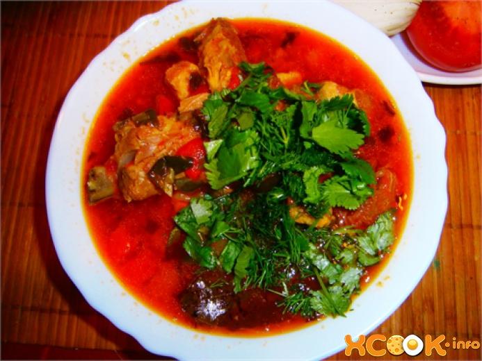 Хашлама по-армянски из свинины и курицы