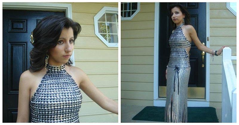Вы ни за что не угадаете, из чего было сшито это платье. Оно просто потрясающее