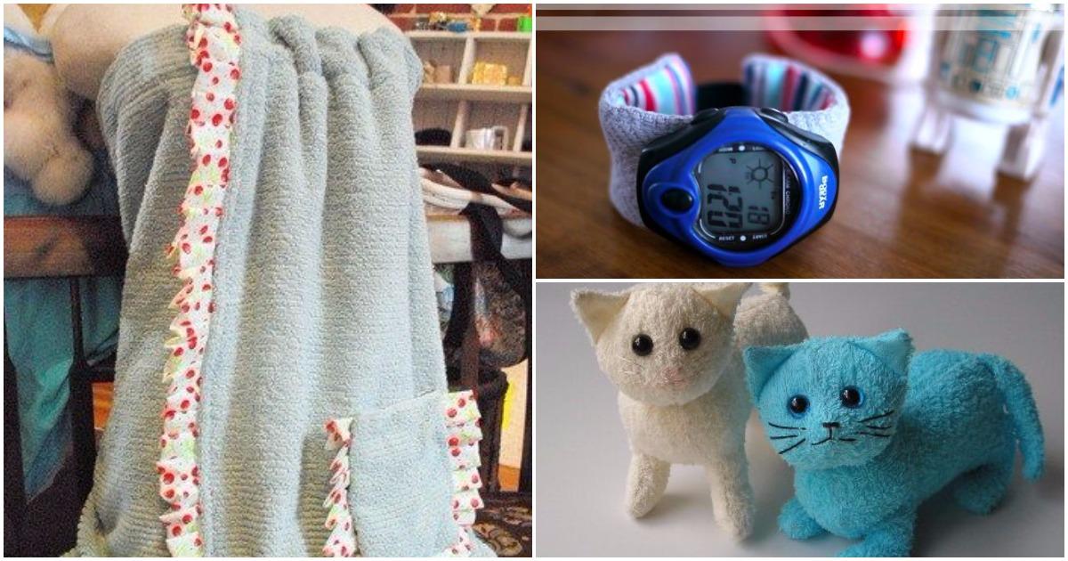 16 идей как можно использовать старые полотенца
