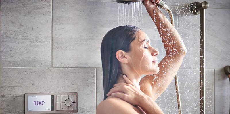 Умный душ нагревает воду до вашей любимой температуры