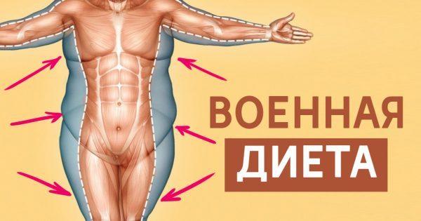 Трехдневная военная диета: за неделю уходит 4,5 килограмма жира! Надежный план питания.