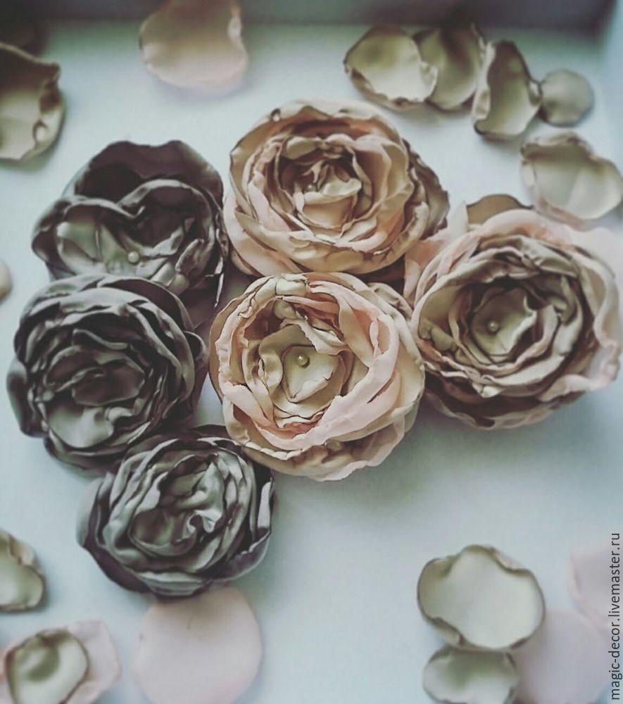 цветы для ободка, мастер-класс