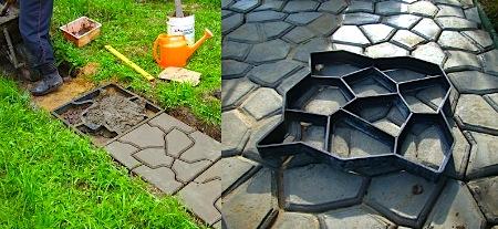 Плиты для двора своими руками