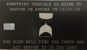 Америку ожидает неизбежная катастрофа 31 декабря: появились листовки-угрозы в городке Орора