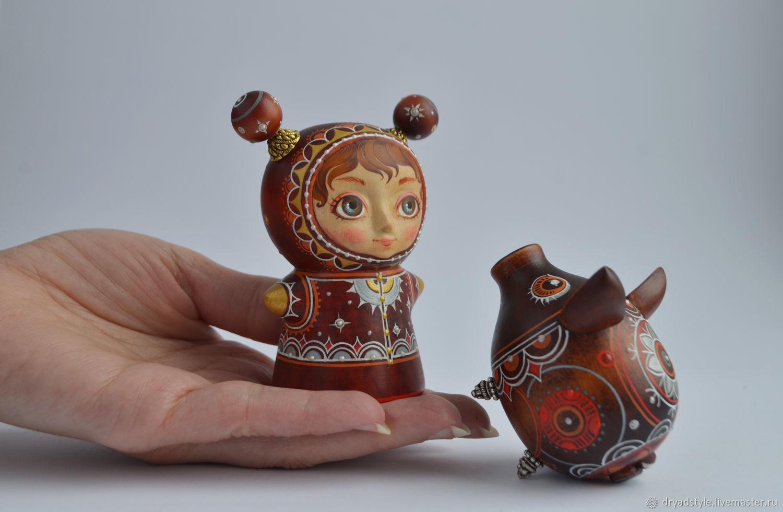 """Набор """"Друзья"""". Подарок для ребёнка.Деревянная миниатюра, Куклы, Сумы, Фото №1"""