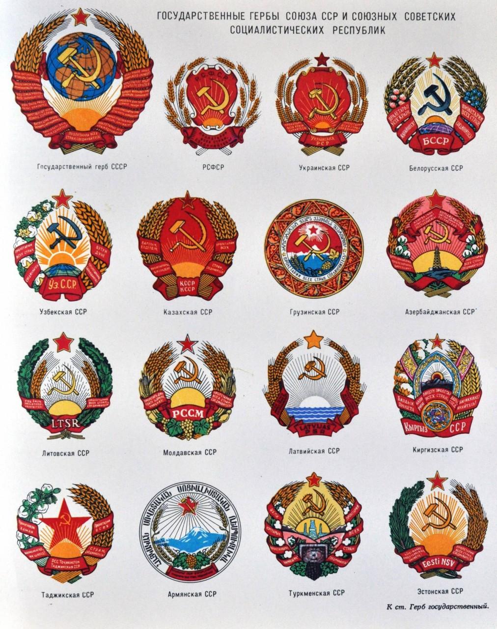 Гербы Советского Союза