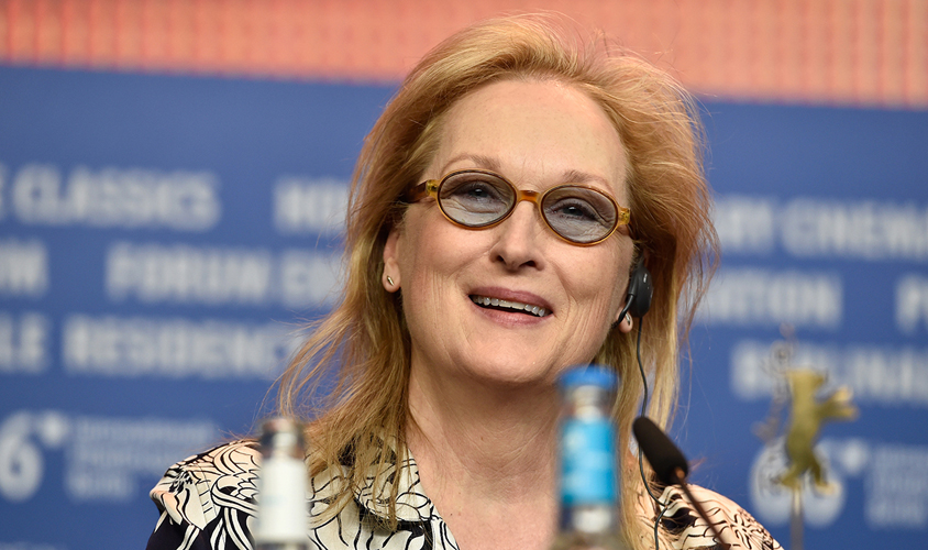 BERLIN, GERMANY - FEBRUARY 11: Meryl Streep attends the International Jury press conference during the 66th Berlin International Film Festival Berlin at the Grand Hyatt Hotel on February 11, 2016 in Berlin, Germany.  (Photo by Pascal Le Segretain / Getty Images)
