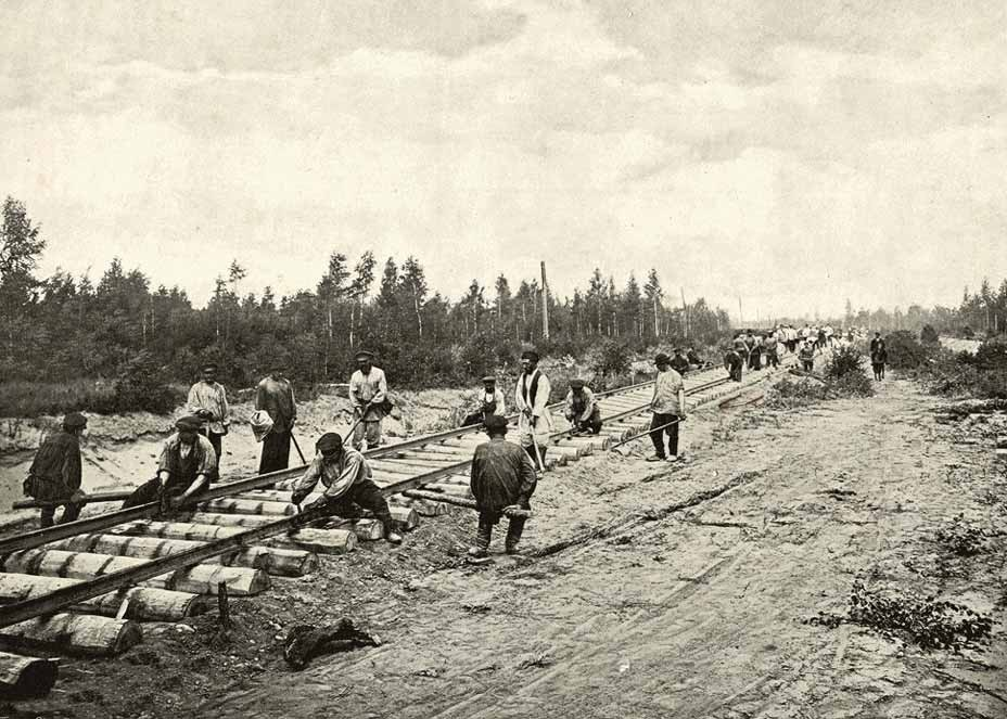 Скорость строительства Транссиба