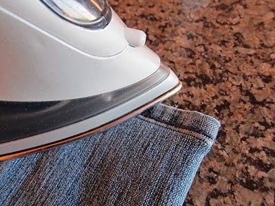 Подшиваем джинсы с сохранением фабричного шва 6