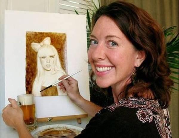 Картины, нарисованные пивом