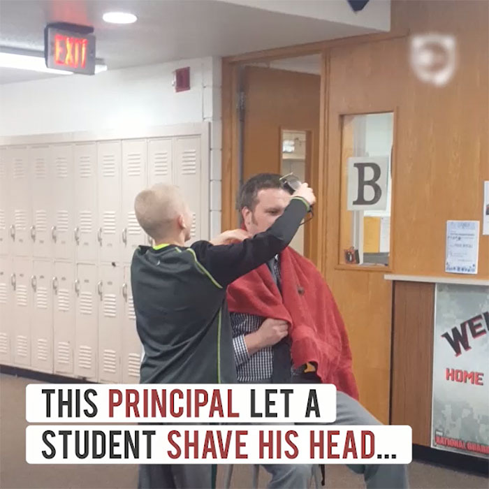 Principal Lets A Bullied Student Shave His Head To Teach A Valuable Lesson