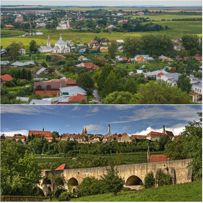 Города-побратимы Суздаль и Ротенбург