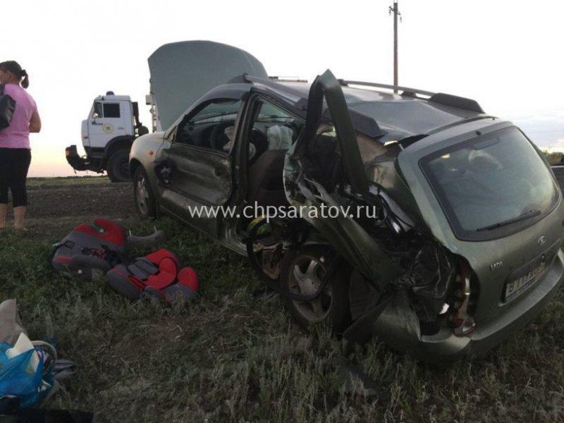 Авария дня. В ДТП с бензовозом на трассе Саратов-Волгоград умер ребенок