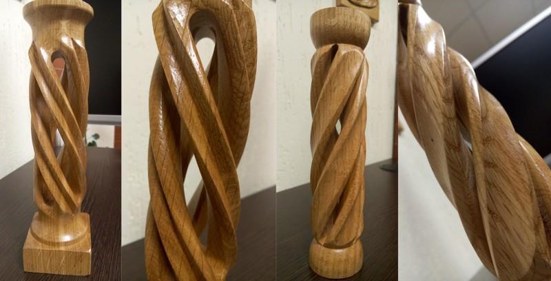 Как делают пустотелые колонны из дерева