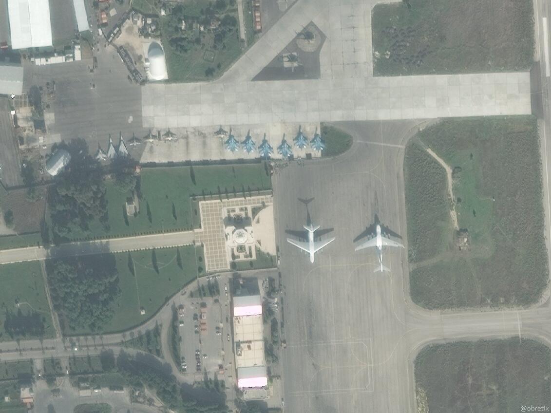 Российская авиационная группировка на аэродроме Хмеймим на 17 ноября