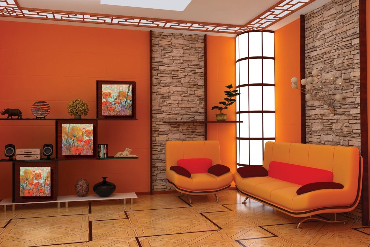 «Апельсиновый» интерьер