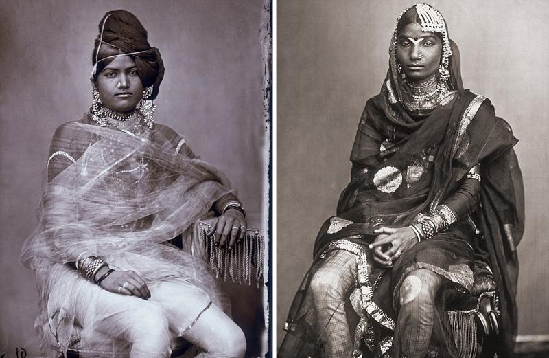 Многочисленные жены индийского махараджи в объективе его фотоаппарата