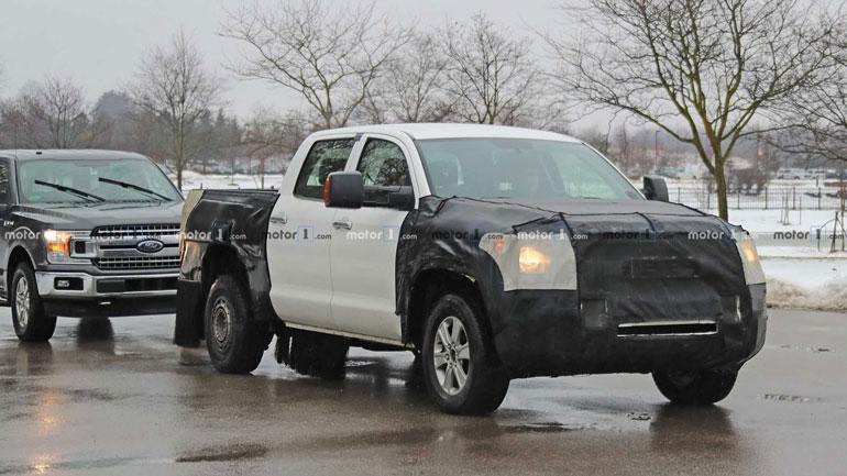 Toyota Tundra 2020 впервые замечен во время тестов