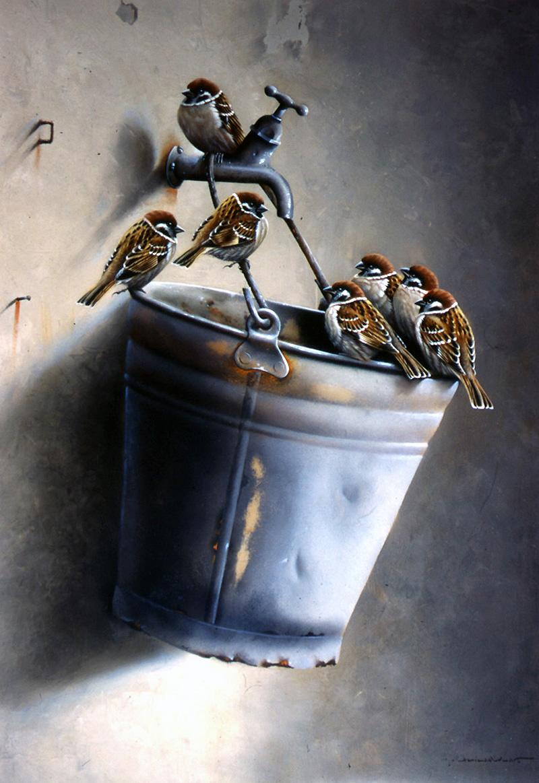 Художник Jan Weenink. Мир птиц