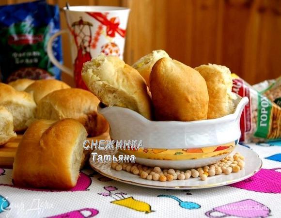 Постные пирожки с гороховой и фасолевой начинками