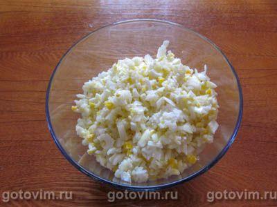 Фаршированные рисом и яйцом кальмары в духовке, Шаг 04