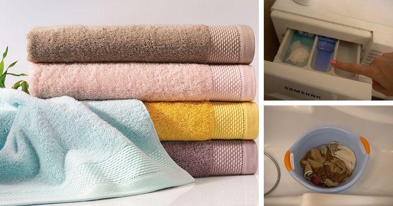 Простой способ вернуть махровым полотенцам мягкость
