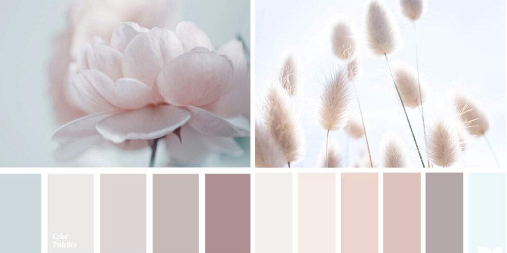 Пудровый цвет в интерьере