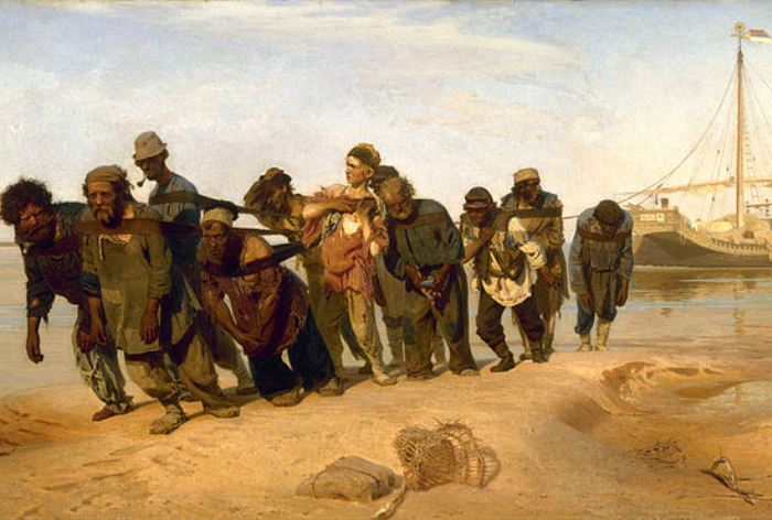 И. Репин. Бурлаки на Волге, 1870-1873. Фрагмент | Фото: artchive.ru