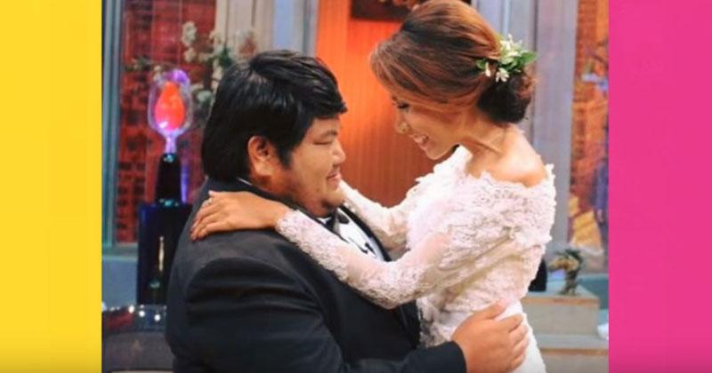 Любят не за внешность. 120-килограмовый парень женился на симпатичной медсестре