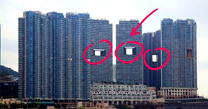 Загадка «дырявых» небоскребов раскрыта! Для чего в Гонконге строят такие странные высотки.