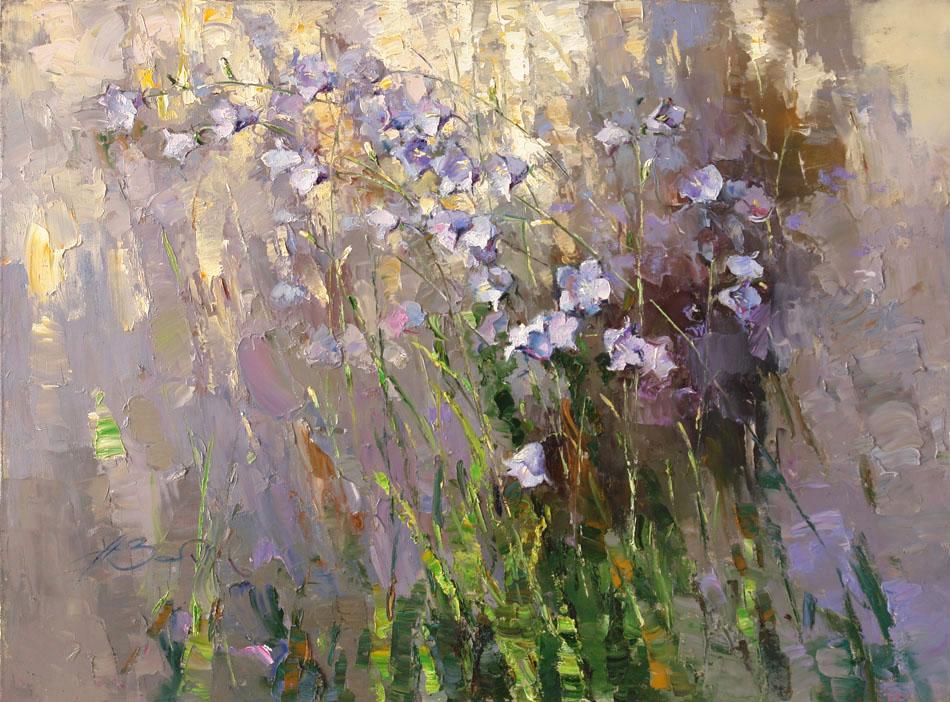Колокольчики, Алексей Зайцев- картина цветы, импрессионизм