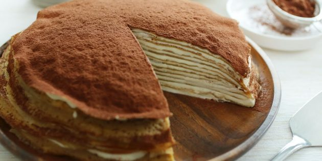 Рецепт: Блинный торт «Тирамису»