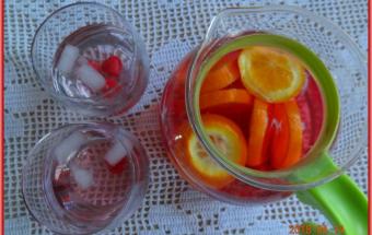 Вода с лимоном и малиной