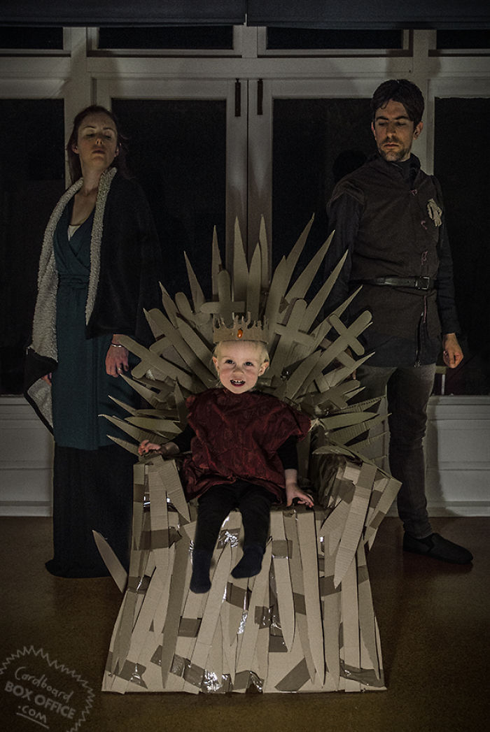 2-Year-Old Son And His Parents Recreate Famous Movie Scenes Using Cardboard Boxes