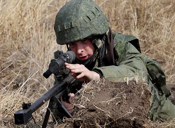 Русские снайперы расправились с боевиками за 10 минут