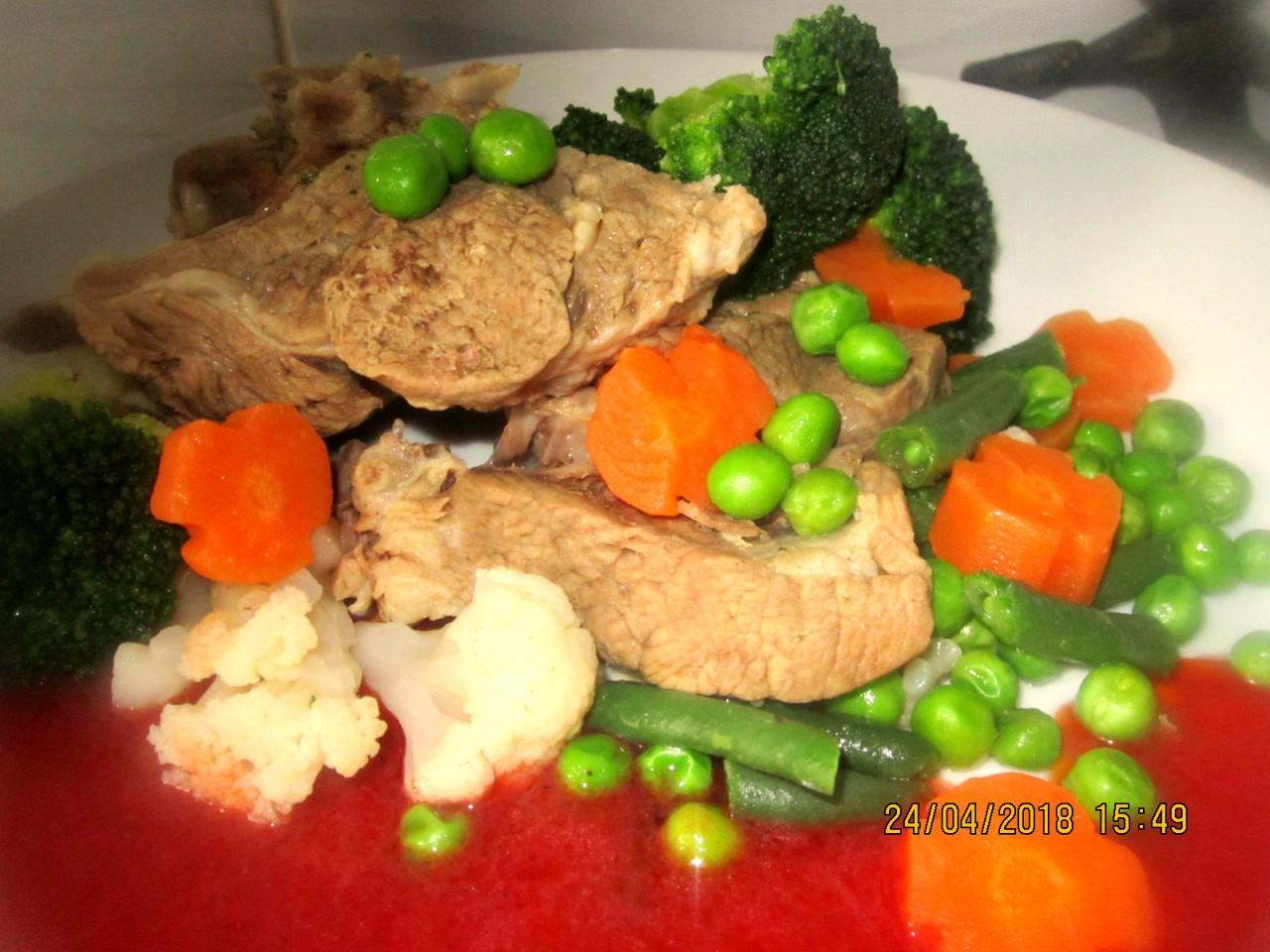 Рецепт бараньего шулюма с калиновым соусом.