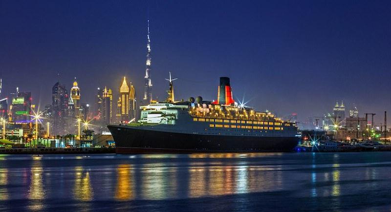 Плавучий рай: в Дубае старый королевский лайнер переделали в пятизвездочный отель