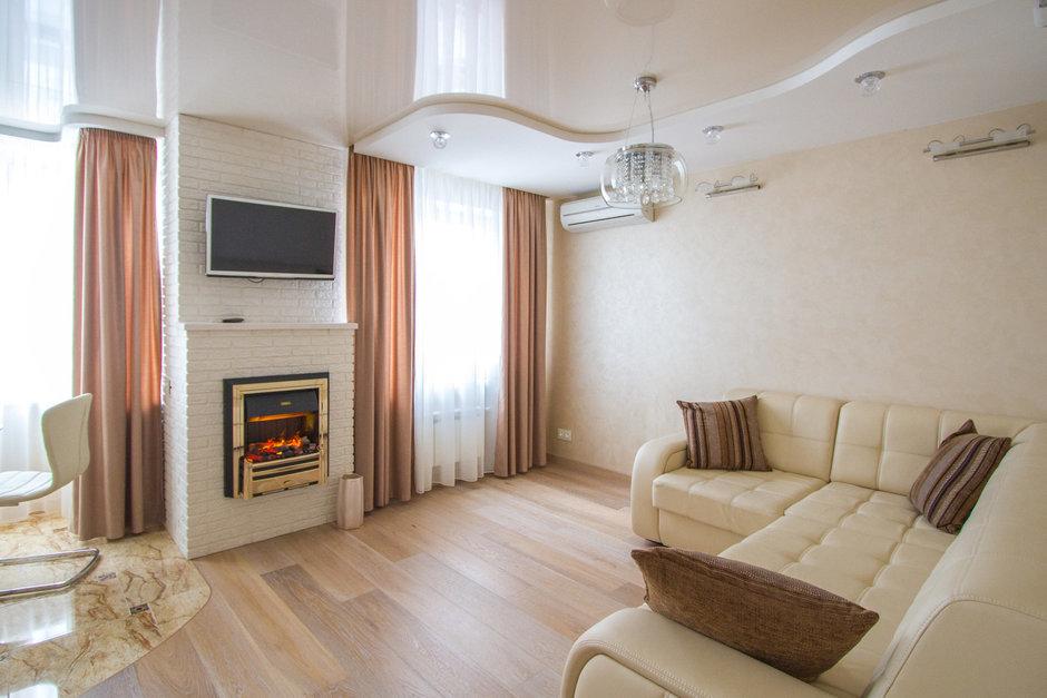 Фотография: Гостиная в стиле Современный, Хай-тек, Классический, Квартира, Проект недели – фото на InMyRoom.ru