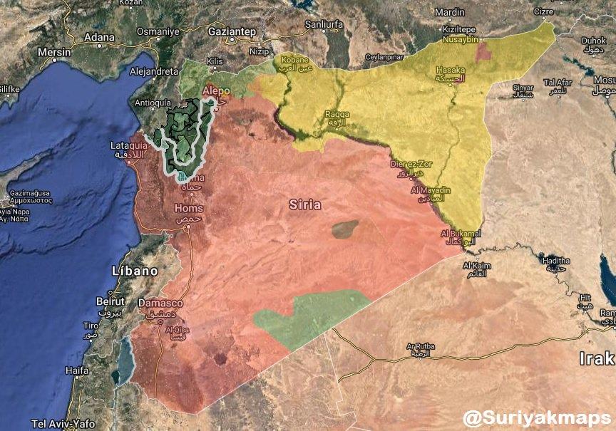 Давно не было карт по Сирии