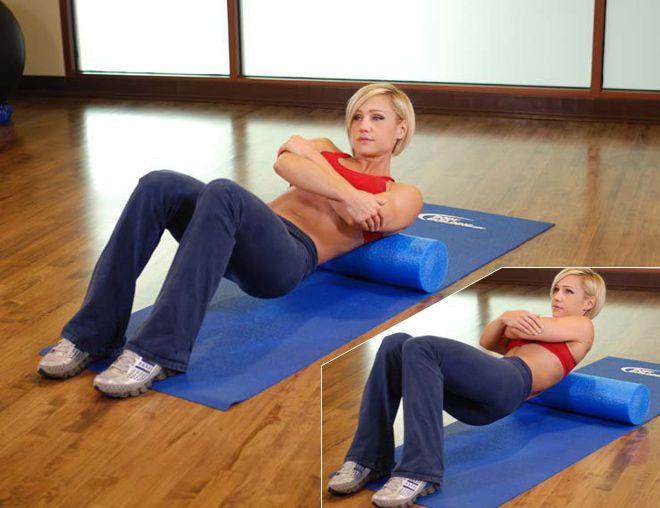 упражнения с валиком для позвоночника
