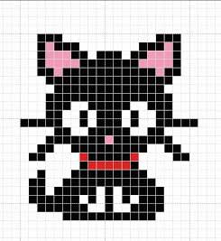 Вышивки крестиком с схемами котиков