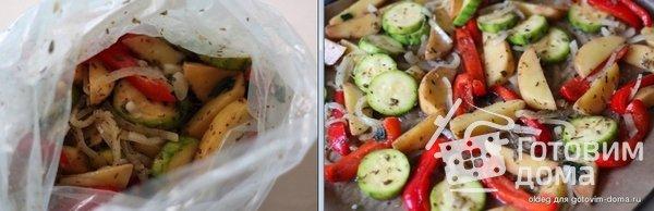 Картофель маринованный и запеченный в духовке с овощами фото к рецепту 1