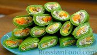 Фото приготовления рецепта: Шпинатные блинчики с начинкой из сельди - шаг №14