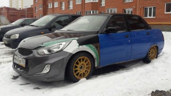 Житель Тольятти сделал Hyundai Solaris из «десятки»