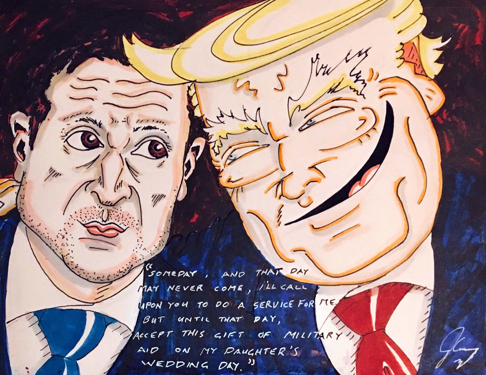 Джим Керри высмеял Трампа и Зеленского в злобной карикатуре