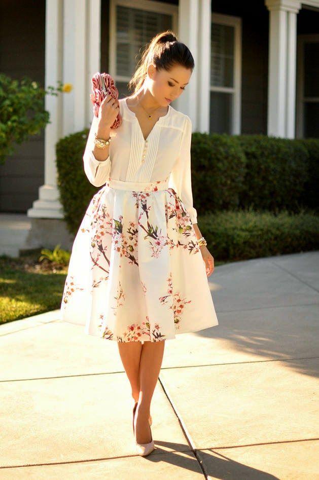 25 стильных нарядов с цветочным принтом
