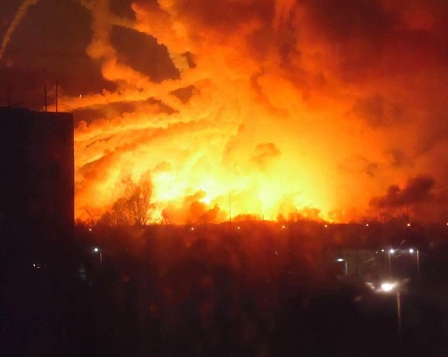 Прокурор Украины: диверсанты взорвали военную базу под Харьковом