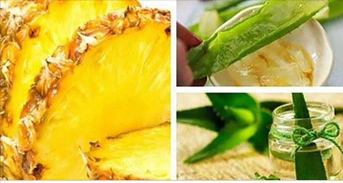 Смузи из ананаса, алоэ вера, овсянки и имбиря для ликвидации живота и всех болезней!